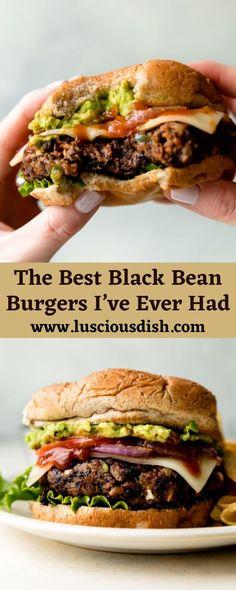 Veg Recipes, Greek Turkey Burgers, Black Bean Burgers, Lime Rice, Veggie Meals, Best Black, Black Beans, Dinner Ideas