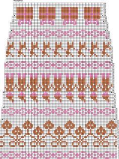 Joulu-kirjoneulesukat Novita Nalle Knitting Charts, Knitting Socks, Knitting Patterns, Stocking Pattern, Cross Stitch Borders, Wool Socks, Fluffy Animals, Christmas Knitting, Hama Beads