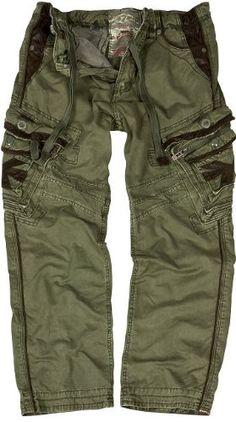 JET LAG cargo trousers Marcello khaki: Amazon.co.uk: Clothing