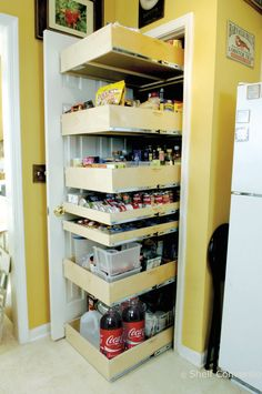 DIY Tutorial ~ How To Make Pull Out Shelves For Your Pantry. Tons Of Amazing