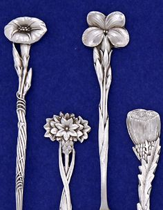 Tiffany & Co. 'Floral' Sterling Silver Demitasse Spoons - set of 12, c. 1890