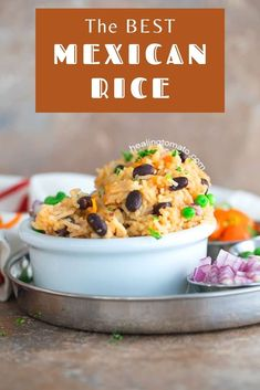 This is the easiest vegan Mexican Fried Rice made with beans is the perfect weeknight dinner recipe #mexicanrice #vegan #mexicanfood #sides Quick Rice Recipes, Vegetarian Rice Recipes, Vegan Dinner Recipes, Quick Meals, Vegetable Recipes, Mexican Food Recipes, Cooking Recipes, Healthy Recipes, Mexican Fried Rice