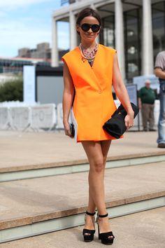 Miroslava Duma | NEON Orange #style