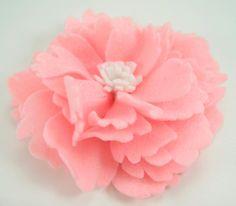 Felt Peony Flower PDF Tutorial .. no machine sewing by aSundayGirl, $6.00