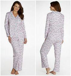 NWT Karen Neuberger Ladies Size XL Pink with White Cats 2 Pc. Pajama Set
