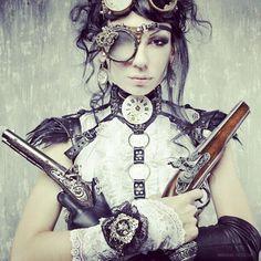 funkysteampunky:    #steampunk #revolver #goggles #beauty by jen_e88http://instagr.am/p/Rr4zAhx92C/