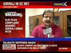 Congress files complaint against Giriraj