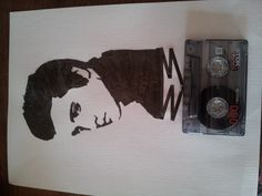 Elvis Presley cassette tape art made by me.