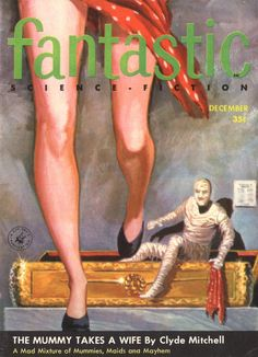 Fantastic Science Fiction. December 1956 (Cover art by Ed Valigursky)