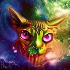 Sphynx cat by Naomian.deviantart.com on @DeviantArt