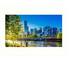 Springtime Sunset on the Yarra - Melbourne, Victoria Art Print
