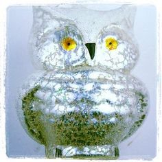 Frosted owl ornament @ loopy mango