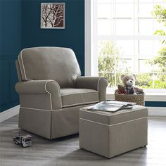 Found it at Wayfair - Remi Swivel Glider and Ottoman