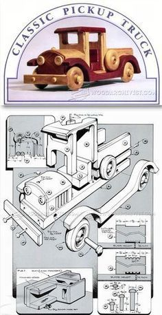 Wooden Toy Pickup Truck Plans - Wooden Toy Plans and Projects | WoodArchivist.com
