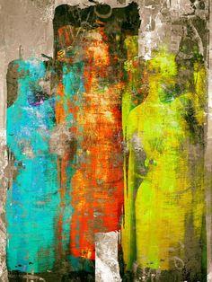 'Three colorful women' von Gabi Hampe bei artflakes.com als Poster oder Kunstdruck $18.03