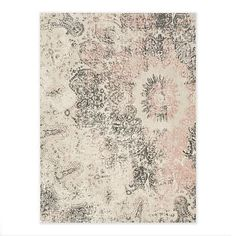 Distressed Ornament Wool Rug - Rosette #westelm