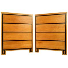 Pair Russel Wright Highboy Dressers | From a unique collection of antique and modern dressers at https://www.1stdibs.com/furniture/storage-case-pieces/dressers/