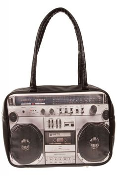 #bag #hold-all #retro #vintage #woman #accessory #boombox #80's #eighties