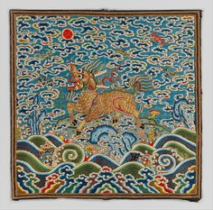 Rank Badge / Period: Qing dynasty (1644–1911), Kangxi period (1662–1722) / China / Silk and gold
