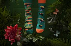Socks – Tropical Heat – a unique product by ManyMornings on DaWanda