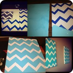 diy canvas chevron