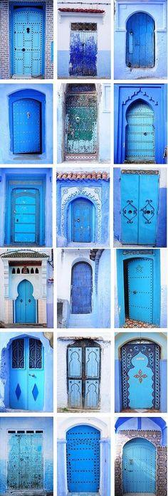 Travel Inspiration for Morocco – Blue Moroccan Doors - Home Professional Decoration Cool Doors, Unique Doors, The Doors, Entrance Doors, Doorway, Windows And Doors, Entrance Ideas, Knobs And Knockers, Door Knobs