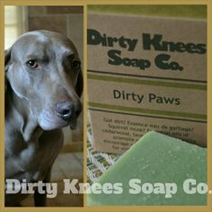 Dirty Knees Dirty Paws - in love with the dog soap! #pets