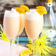 Pineapple Orange Creamsicle Mimosas Recipe Beverages, Cocktails with sparkling…