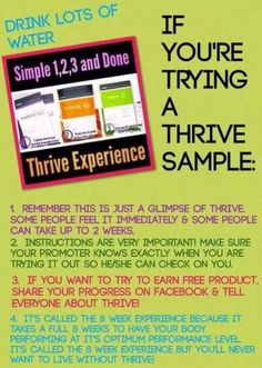 Trying a Thrive sample?