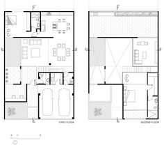 Elegant Designing Modern Municipal House in Cancún: Brilliant First Floor Plan Design With Cozy Rooms With Modern Minimalist Interior Design. House Arch Design, Duplex House Design, Modern House Design, The Plan, How To Plan, Villa Plan, Home Design Plans, Plan Design, Plan Ville