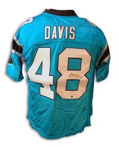 Autographed Stephen Davis Panthers NFL Reebok