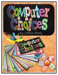This little colorful set of cards can be used in a classroom or computer lab setting. It contains a list of web-based learning sites available for students to access. Pick and choose the sites you would like your students to have access to. Some sites require a subscription for use. You can laminate for durability and place on a ring. Check out my blog for more information about how I use it in my classroom. http://totallyterrificintexas.blogspot.com/2014/06/computer-choices.html