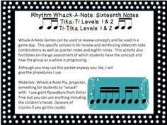 Rhythm Whack-A-Note: Sixteenth Note Combinations (Ti-Tika,
