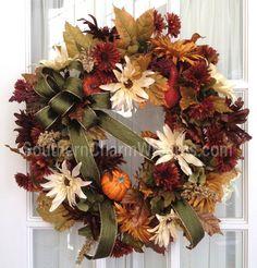 deco mesh wreaths | Made Custom Deco Mesh & Silk Flower Wreath by Southern Charm Wreaths ...