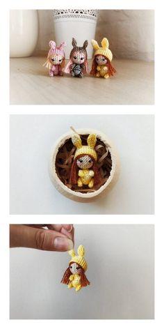 Amigurumi Unicorn Girl Doll Free Pattern Crochet Amigurumi Free Patterns, Crochet Doll Pattern, Crochet Ideas, Knitted Dolls, Crochet Dolls, Diy Earrings Paper, Stitch Witchery, Unicorn Doll, Kawaii Crochet