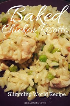 When I saw a baked chicken risotto on the Slimming World website I was delighted. It's very tasty and really easy to prepare and bake Recipes slimming world Baked chicken risotto - Slimming World Friendly Syn Free On Extra Easy Slow Cooker Slimming World, Slimming World Dinners, Slimming World Chicken Recipes, Slimming World Recipes Syn Free, Slimming World Diet, Slimming Eats, Slimming World Chicken Casserole, Slimming World Lunch Ideas, Slimming Word