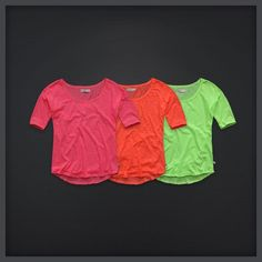 Neon shirts- if it ain't neon. Neon Shirts, Summer Shirts, Neon Colors, Cute Outfits, Spring Summer, Costumes, My Style, Board, Clothing