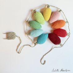crocheted lights garland