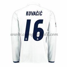 Real Madrid Fotballdrakter 2016-17 Kovacic 16 Hjemmedrakt Langermet