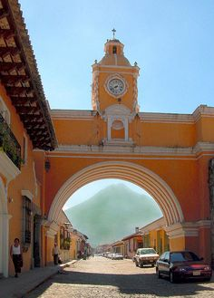 Judy and I stayed in a house one door passed this arch.  Antigua, Guatemala.