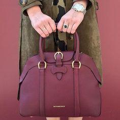 the dreamiest #Burberry handbag in fall's hottest hue.