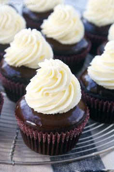These Tuxedo Cupcakes bring together bold dark chocolate and sweet white chocolate for a dessert that's sure to please!