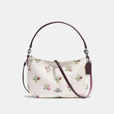 COACH COACH CHELSEA CROSSBODY WITH CROSS STITCH FLORAL PRINT. #coach #bags #shoulder bags #hand bags #leather #crossbody #lining #