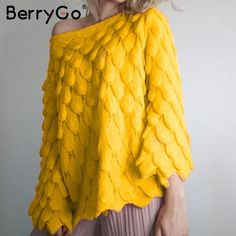 BerryGo Off shoulder women pullover sweater Long sleeve female pure knitted sweaters Casual streetwear autumn winter jumpers Long Sweaters, Pullover Sweaters, Sweaters For Women, Oversized Sweaters, Pullover Pullover, Corset, Casual Fashion Trends, Fall Fashion, Fall Collection
