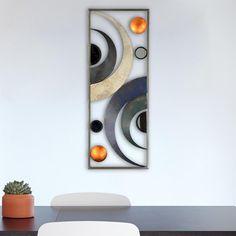 Wandbild Metallbild Halbkreise Kreise Wanddeko Wohnzimmer 28x74cm Modern  Design | Möbel U0026 Wohnen, Dekoration,
