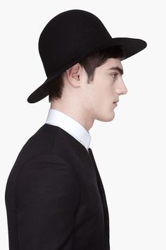 JUUN.J Black felt ten-gallon Hat