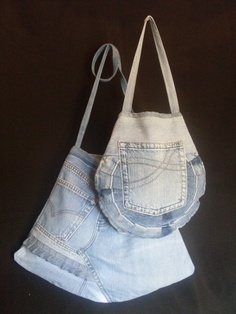 recycled denim bags
