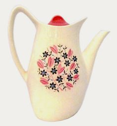 Midwinter 'Marguerite' coffee pot, 1958, offered by Robinson Antiques at Alfies Antiques.