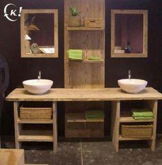 badkamer ideeen hout - Google zoeken