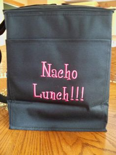 This picture of a picnic thermal tote with fabulous embroidery. I love it! Made me laugh out loud!